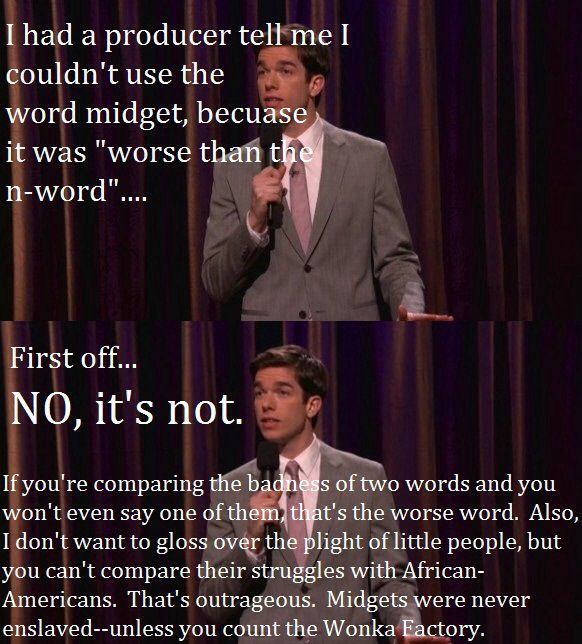 John Mulaney on the N-word vs midget debate