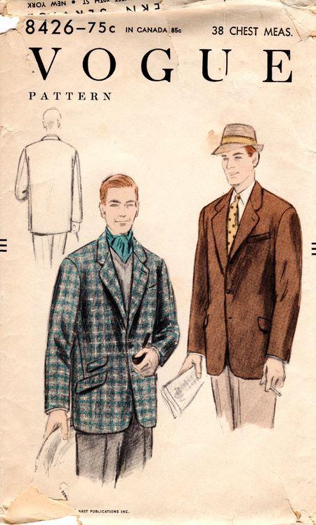 Vogue 8426; ©1954; Men's Jacket.