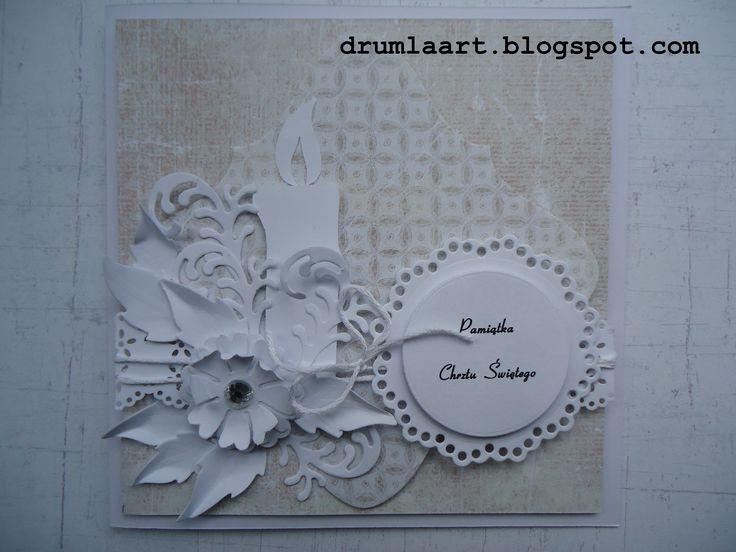kartka na Chrzest  drumlaart.blogspot.com