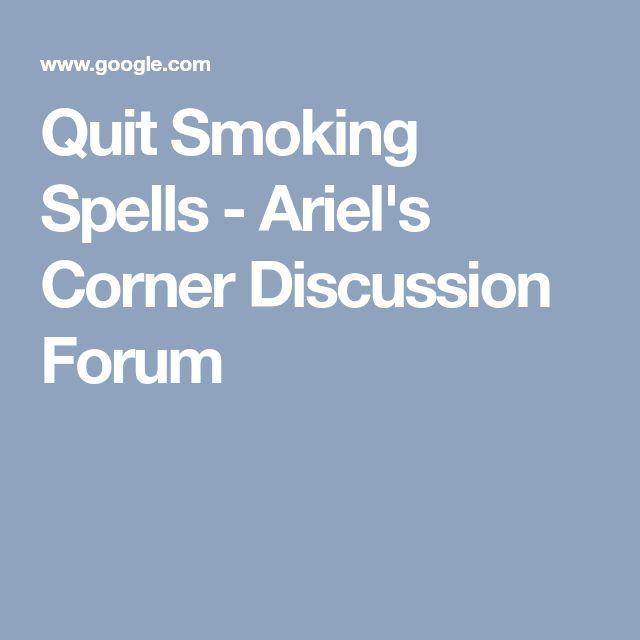 Quit Smoking Spells - Ariel's Corner Discussion Forum