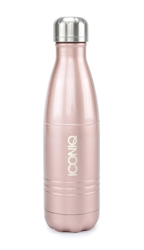 17oz rose gold water bottle stainless steel vacuum insulated