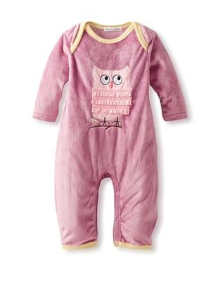 30% OFF Rumble Tumble Baby Owl Plush Coverall (Dusty Burgundy)