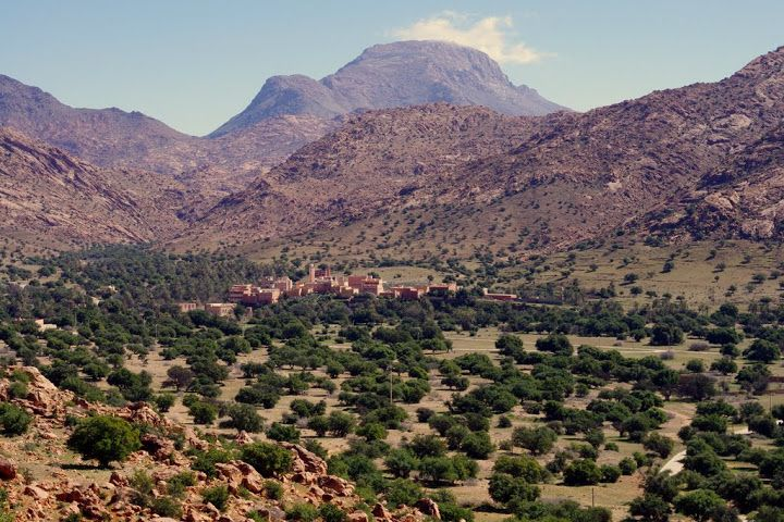 Cycling in the Tafraoute region, Morocco