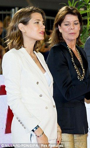 Wedding number two: Charlotte Casiraghi (left with her mother) will marry Gad Elmaleh in the autumn.