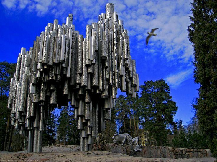 Sibelius monument, Helsingfors, Finland