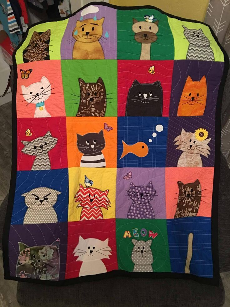 Look at Julie's fabulous Cuddly Cats quilt! Can you believe it's her first quilt? Her first quilt - made for her first grandbaby. :-) Pattern: https://shop.shinyhappyworld.com/collections/quilt-patterns/products/cats-quilt-pattern-workshop  https://www.facebook.com/photo.php?fbid=10209802921935236&set=pcb.1314238912022653&type=3&theater