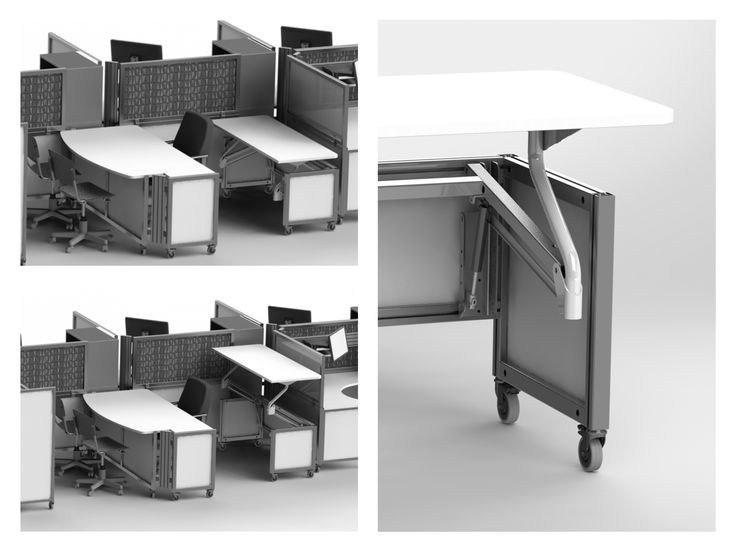 Solo+ with the Adjust behind offers a workspace that moves up and down to meet the needs of the worker.
