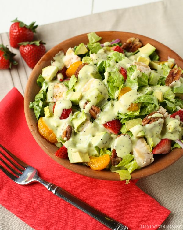 ... Salad on Pinterest | Strawberry salads, Homemade dressing recipe and