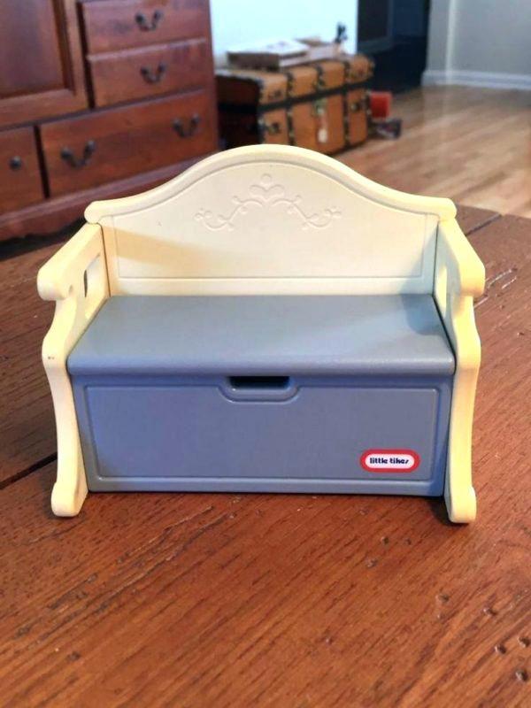 Brilliant Victorian Storage Bench Vintage Little Grand Mansion Blue Creativecarmelina Interior Chair Design Creativecarmelinacom