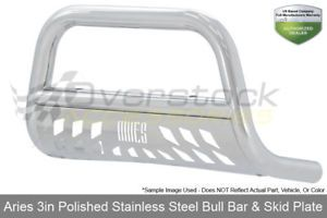 a aries 3in stainless bull bar w skid plate 2011 2016 ford f 250f 350f 450 sd