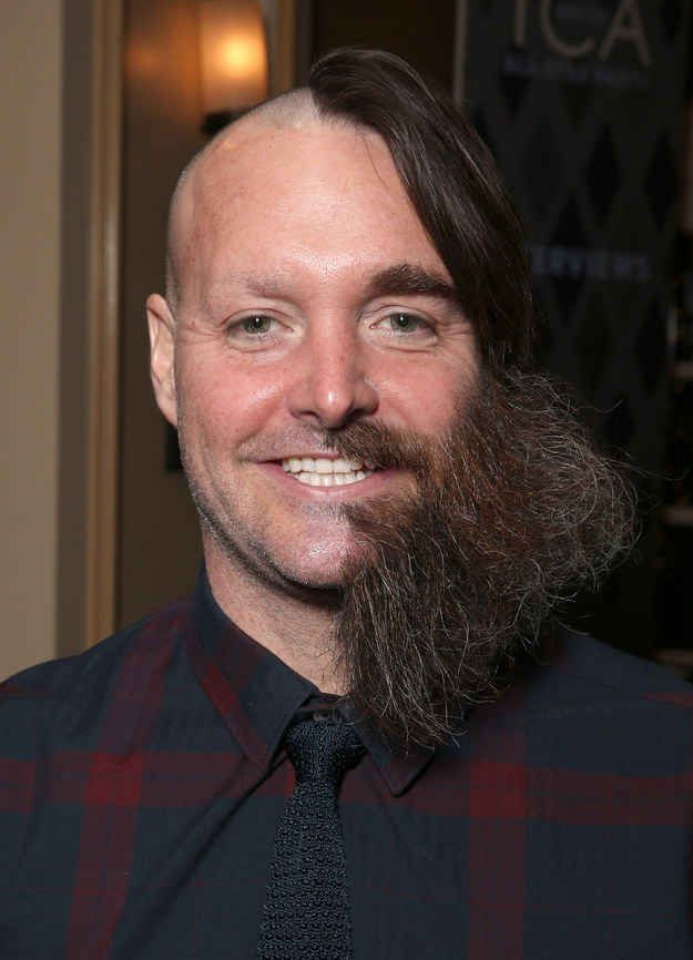 Will Forte showed up at a party on Friday night with a half-shaved face and no one knows how to handle it.