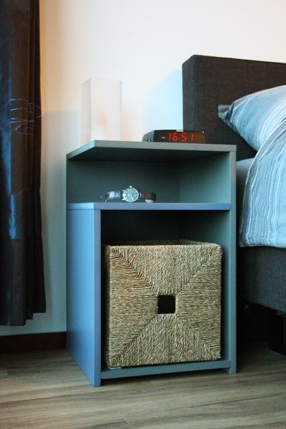 DIY free plan by Neo-Eko nightstand, bedside table by Alle | nachtkastje,