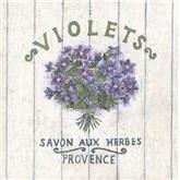 French violet soap label