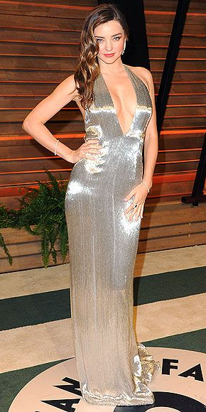 The Year's Best Dresses | MIRANDA KERR | Yes, this shimmering KaufmanFranco gown is gorgeous, but it was Kerr's supermodel curves that took it to another level at the Vanity Fair Oscar party in March.