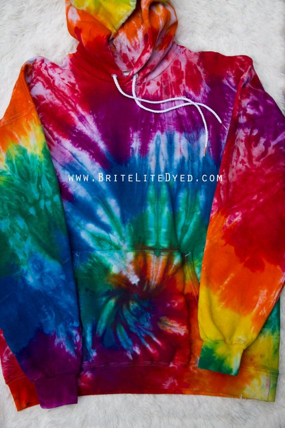 Tie Dye Sweatshirt Large Tie Dye Clothing Women's by BriteLiteDyed