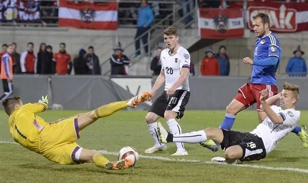 Peter Jehle nie złapał piłki i sprokurował rzut karny • Liechtenstein vs Austria • Śmieszna gafa Jehle w Eliminacjach • Zobacz >>