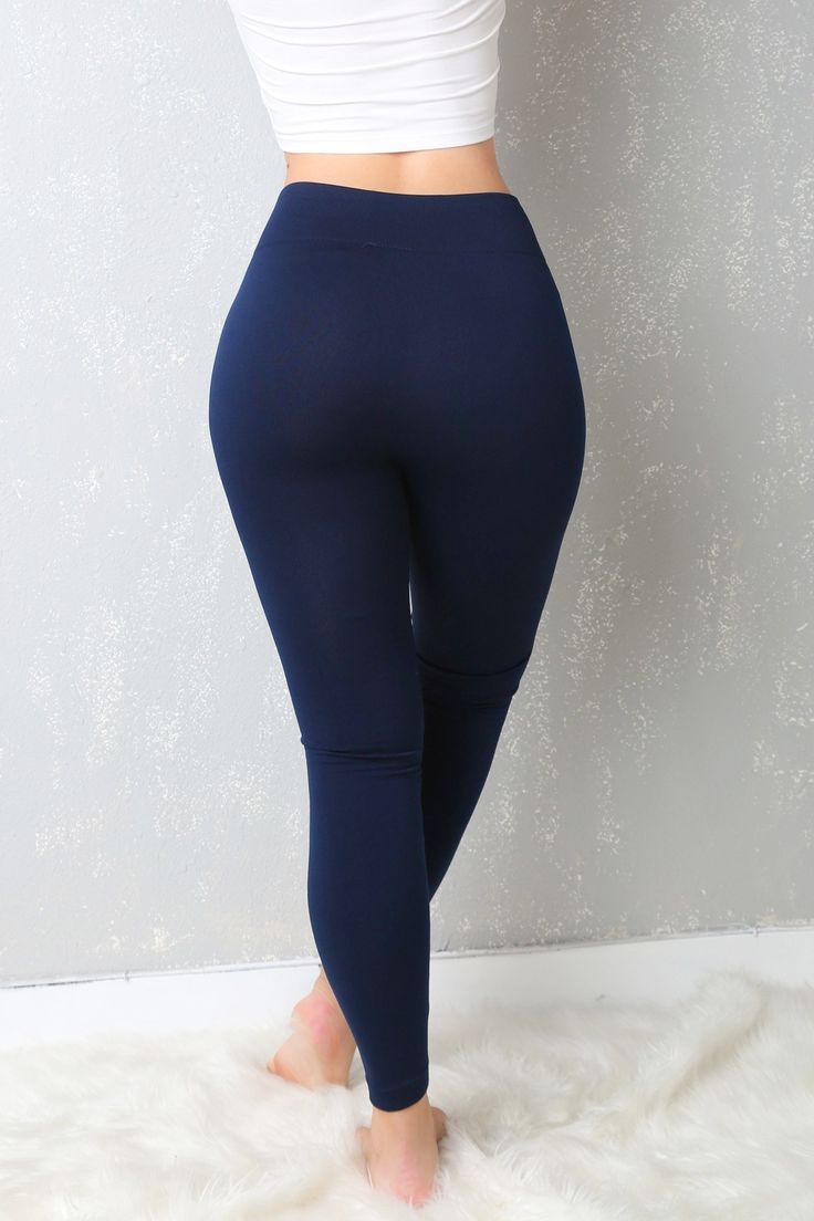 My Favorite Leggings Ever Navy Blue - Fashion Effect Store  - 3