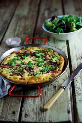 Pea & Gammon Frittata. #Recipe #Christmas #Breakfast #Brunch #leftovers