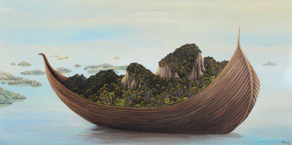 Artfind.co.nz - Artwork - Land Migration lV by StaceyO'Neill