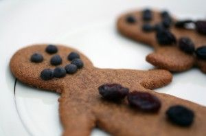 #paleo Gingerbread Cookies: 1/2 C Molasses; 1/4 C Maple Syrup, Grade B; 3 T Palm Oil Shortening, Organic; 1 T Coconut Milk; 1/2 t Baking Soda; 1/2 t Ground Cinnamon; 1/2 t  Ground Cloves; 1/2 t Ground Ginger; 1/2 t Ground Nutmeg; 1/2 t Salt; 3 C Blanched Almond Flour
