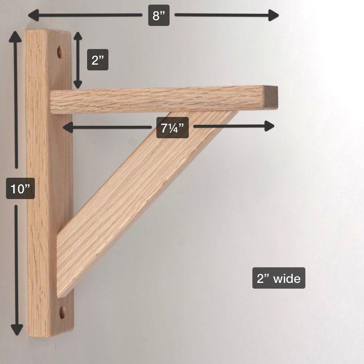 Amazon.com: Wood Shelf Bracket - Oak Straight 8: Hardware ...