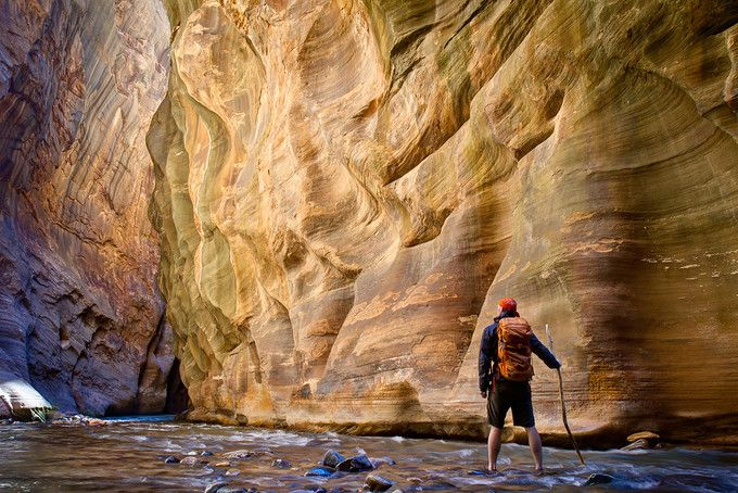 Zion National Park is one of America's great natural wonders. Hiking in a river between steep canyon walls on the Zion Narrows hike is a very unusual adventure.…