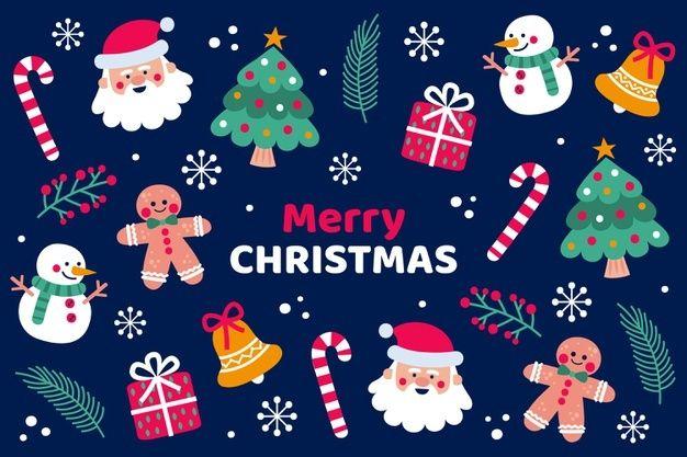 Fundo De Natal Desenhado A Mao Christmas Vectors Merry Christmas Wallpaper How To Draw Hands