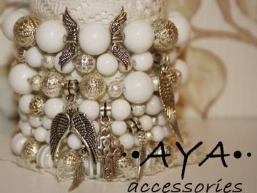 """A set of bracelets """" Angel's Wings"""" by AYASHOP for $66.00"""