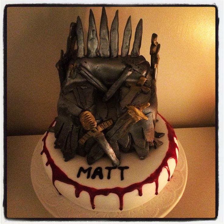 Game of Thrones Iron Throne cake  #GoT #GameOfThrones