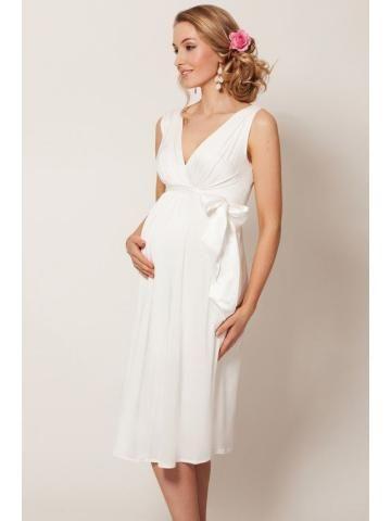 chiffon v-neck bridal wedding dresses