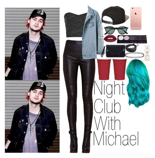 """""""night club w/ michael"""" by cosmic-calum ❤ liked on Polyvore featuring mode, Brixton, Ray-Ban et Accessorize"""