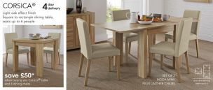 Possible dining room table - next Square extends to rectangle seats 6-8