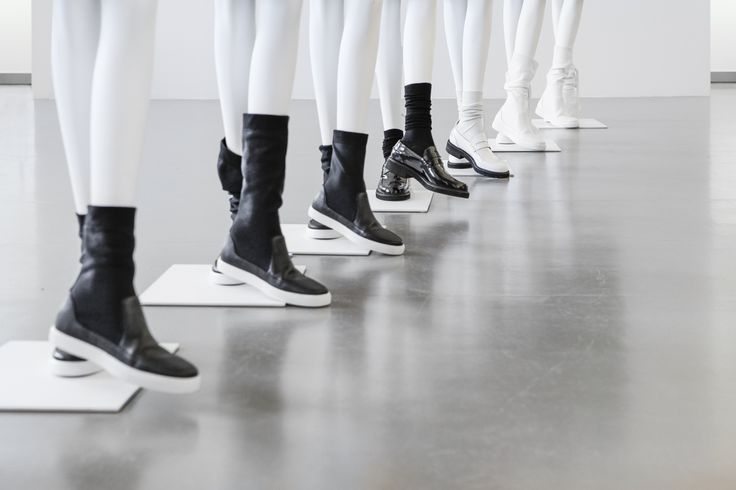 RESORT 2015.  As you can see, the shoes over socks look is something that many designers are playing with this season, and it's something that works quite well with Jil's pared-down aesthetic.  #Jil #Sander #JilSander #NAVY #Collections #Shoes #trend
