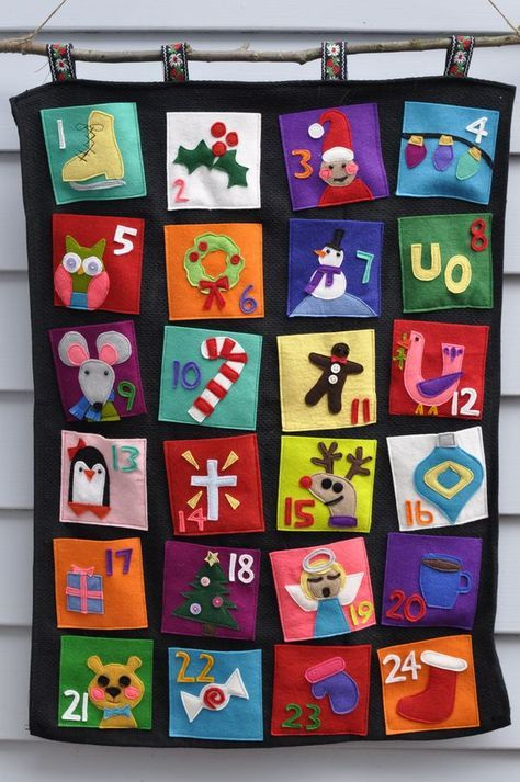 I found many cool advent calendars on the internet which inspired me. And I had a bit of help from Olive...