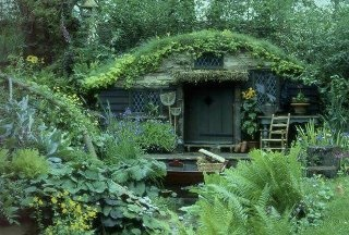 cabins: Green Home, The Shire, Hobbit Hole, Hobbit Home, Tiny Cottages, Green House, Gardens House, Hobbit House, Gardens Sheds