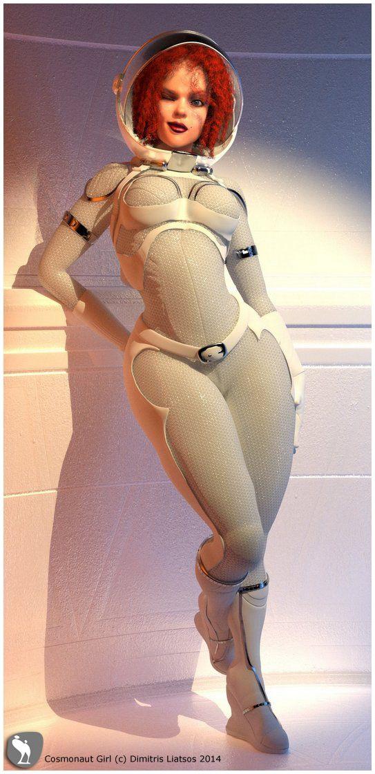 Cosmonaut Girl _ 01 ZBrush_Maya