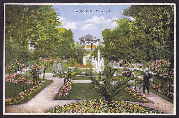 Městský park - růžová zahrada cca 1928
