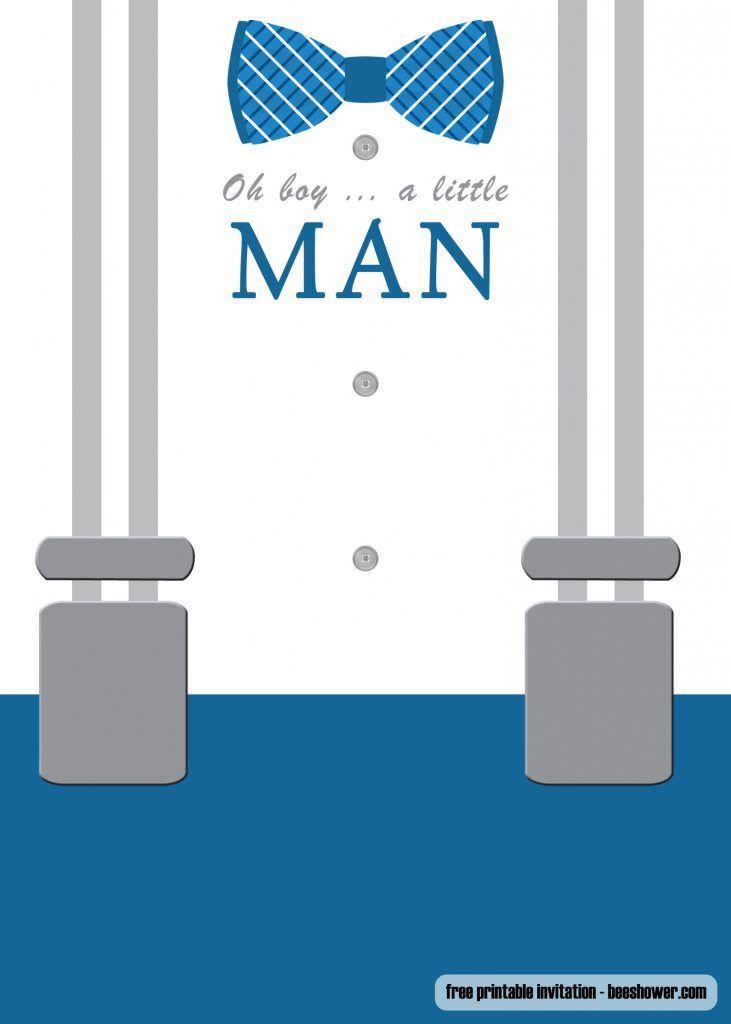 Free Little Man Bow Tie Baby Shower Invitation Template Bow Tie Baby Shower Baby Shower Invitations For Boys Bow Tie Baby Shower Invitations