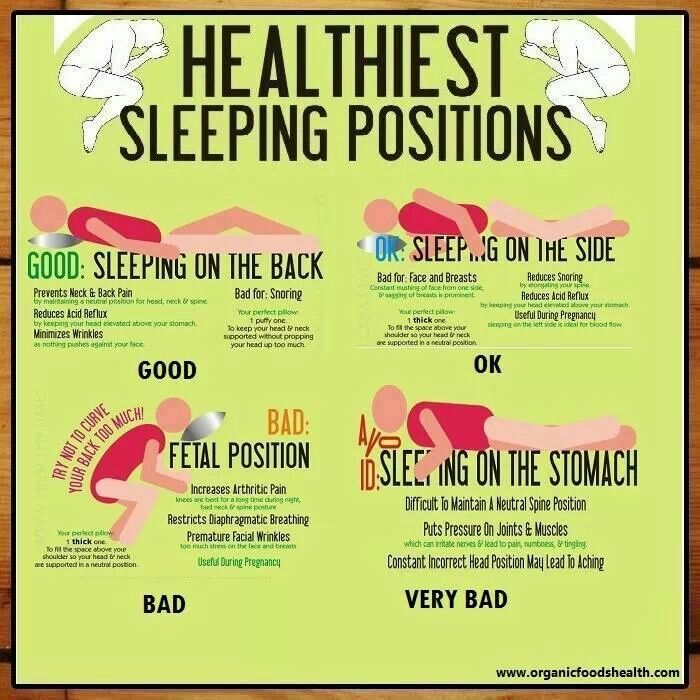 Healthy sleeping positions healthy stuff pinterest for Best sleeping posture for back pain