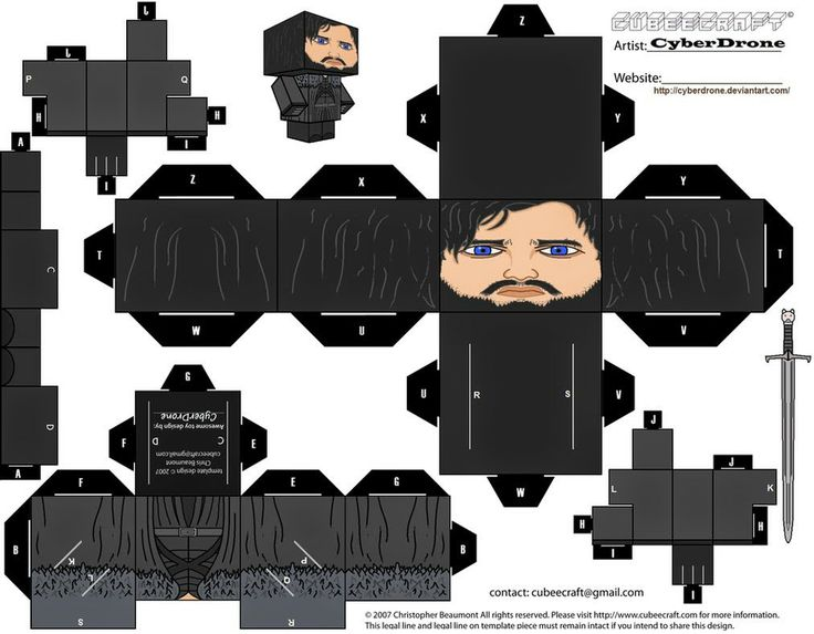 Papertoy do Game of Thrones