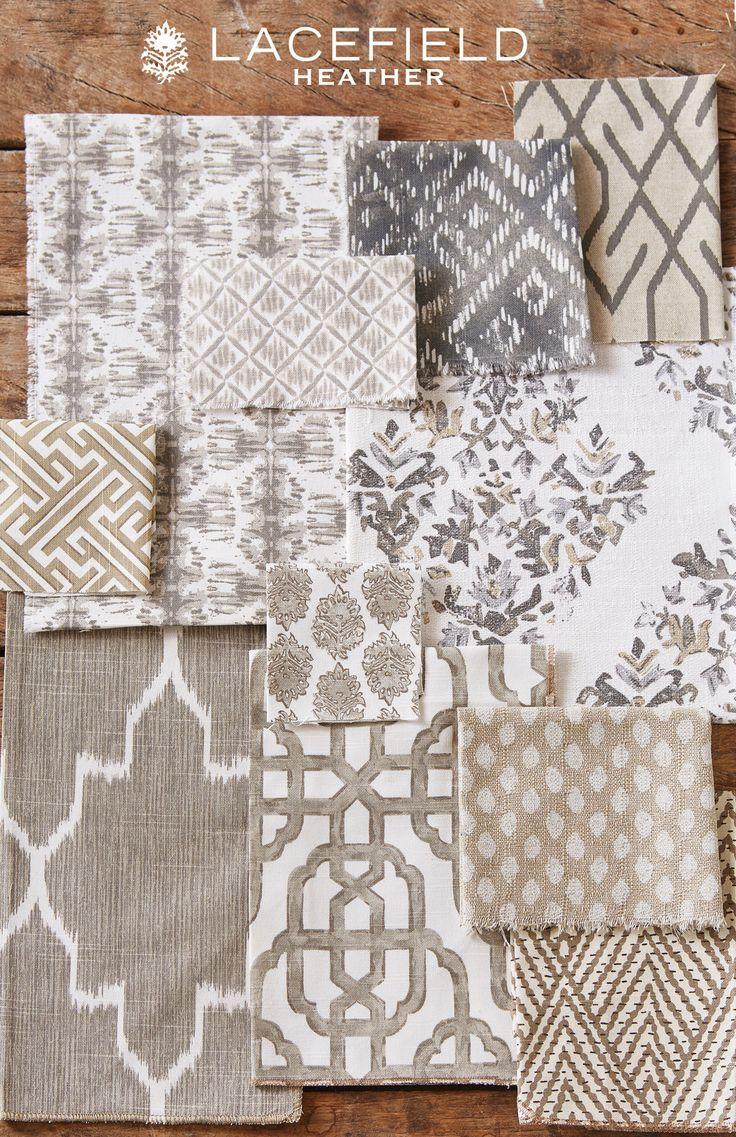 Lacefield Heather Textile Collection  2015 Neutral Fabrics SAHARA, MONACO LINEN #shibori #fabric