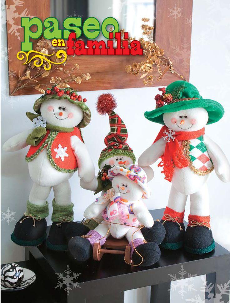Moldes o patrones para elaborar hermosos mu ecos navide os for Manualidades para adornos navidenos