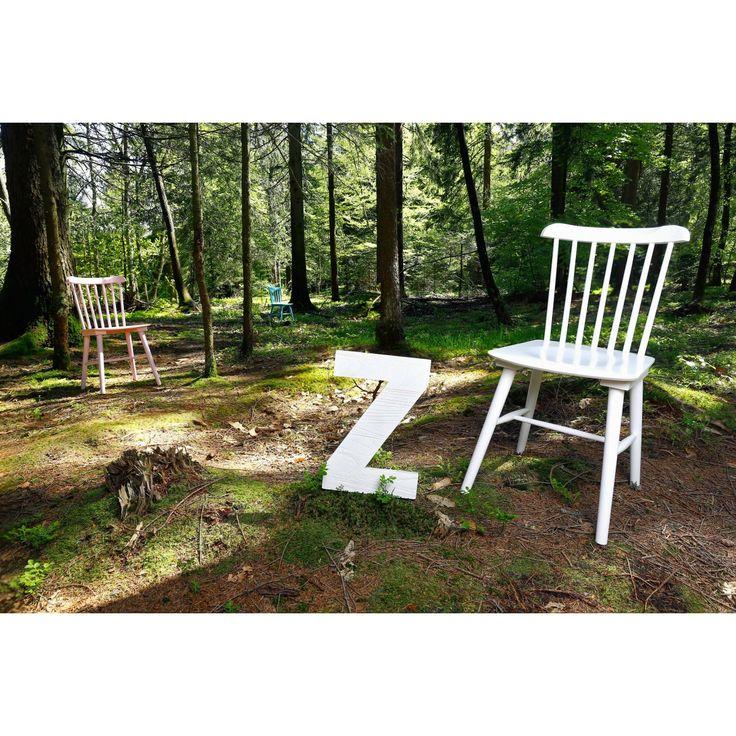 Chaise scandinave blanche (soldes chez ampm)