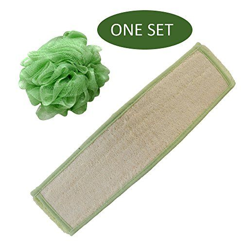 BIG SIZE! Brusybrush Bamboo Fiber Loofah Back Scrubber Belt - Easy to Use Body Scrubber & Back Exfoliator for Promoting Healthy Skin - Bonus Mesh Body Sponge Included!  //Price: $ & FREE Shipping //    #health #womenhealth  #relaxation #skincare #wellness #body #healthylife #fitness #body #activity #bodycare #sport #diet #nutrition