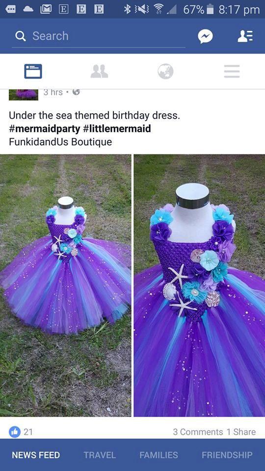 Under The Sea Mermaid Tutu Dress  mermaid by FunkidsandUsBoutique