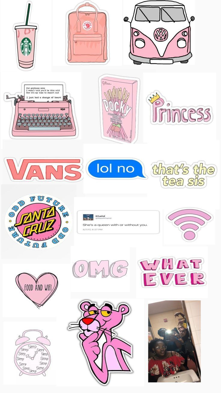 Cute Pink Aesthetic Stickers 💖 – Print – # Aesthetic # Adhesive