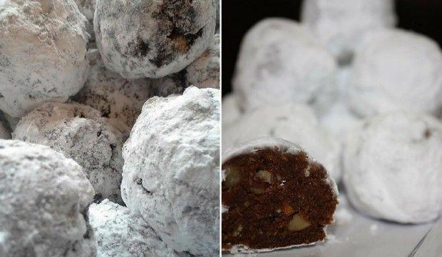 """Nepečené """"sněhové koule"""" s rumem a ořechy"""