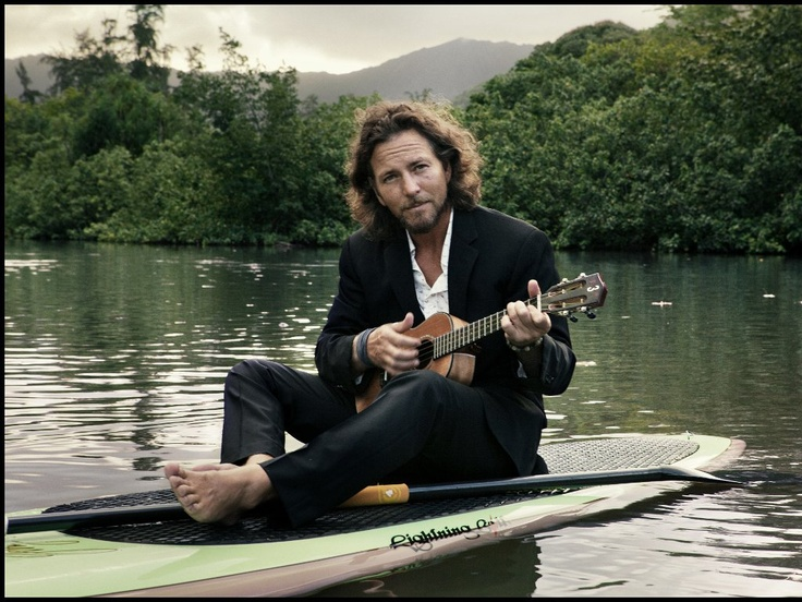 Eddie Vedder- Amazing how he can make such a happy instrument so emotional.