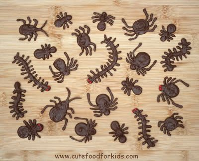 Cute Food For Kids?: Chocolate Bugs for Halloween or Bug Theme Party