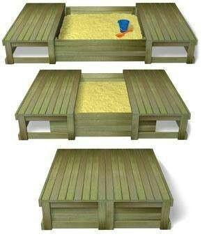 Sandbox w/ slide on cover. For my grandson....